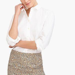 J. Crew white button down dress shirt size small